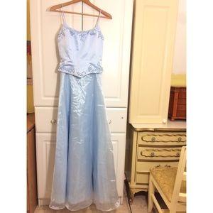 Dave & Jonny Light Blue Prom Dress
